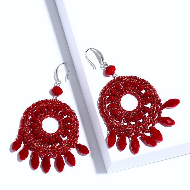 Alloy Fashion bolso cesta earring  (red)  Fashion Jewelry NHAS0200-red