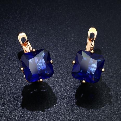 Imitated crystal&CZ Fashion Geometric earring  (blue)  Fashion Jewelry NHAS0258-blue's discount tags