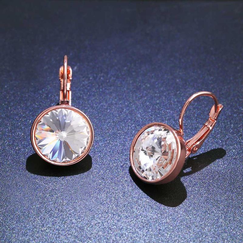 Imitated crystalCZ Fashion Geometric earring  white  Fashion Jewelry NHAS0268white