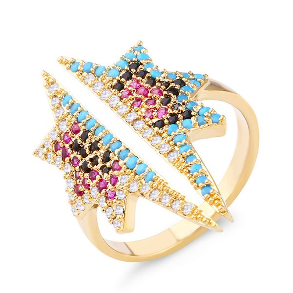 Copper Fashion Geometric Ring  (Alloy)  Fine Jewelry NHAS0328-Alloy