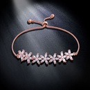 Imitated crystalCZ Korea Flowers bracelet  Alloy  Fashion Jewelry NHAS0236Alloy