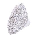 Copper Fashion Geometric Ring  Alloy7  Fine Jewelry NHAS0329Alloy7