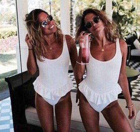 Polyester Fashion  Bikini  (White-S)  Women Clothing NHHL0741-White-S