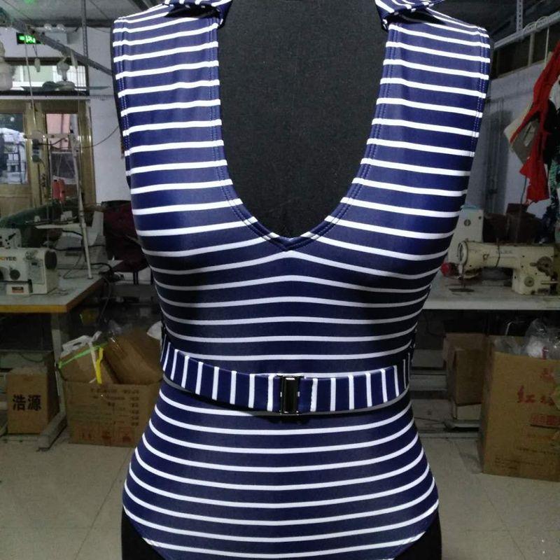 Cotton Fashion  Bikini  (1910 black and white stripes - S)  Women Clothing NHHL0771-1910-black-and-white-stripes-S
