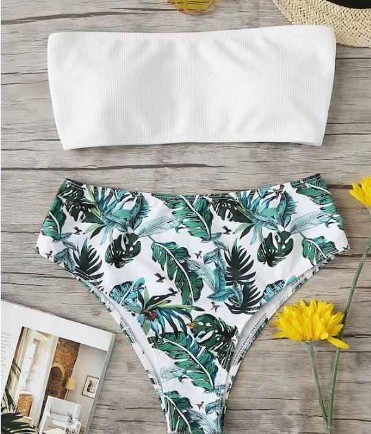 Polyester Fashion  Bikini  (White-S)  Women Clothing NHHL0790-White-S