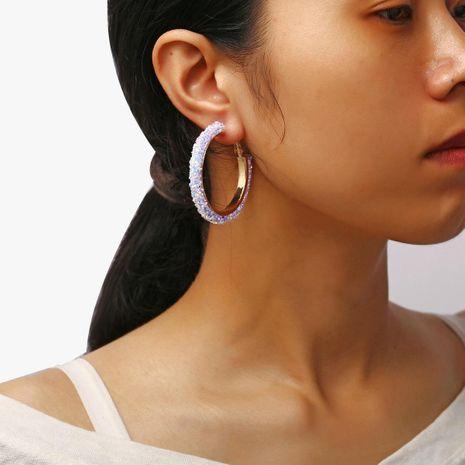 Pendientes creativos vintage pequeños con lentejuelas y círculo de metal NHPJ157466's discount tags