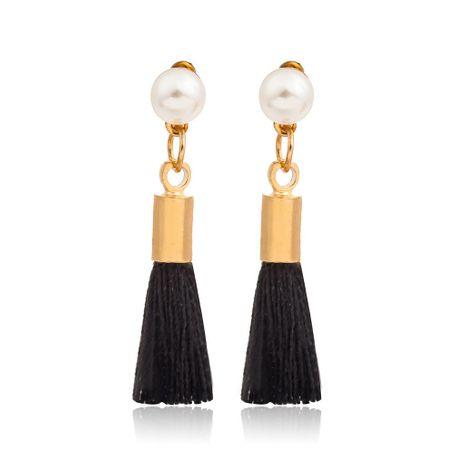 Mini pendientes de cadena con flecos de perlas pequeñas NHDP157486's discount tags