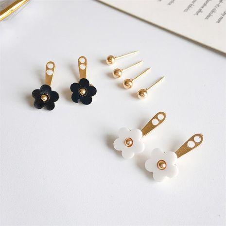 Versión coreana de los aretes de flor de margarita linda bola de oro NHDP157487's discount tags