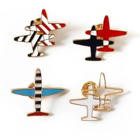 Broche de aleación de gota de aceite rayado de aviones pequeños de estilo japonés y coreano NHDP157504's discount tags