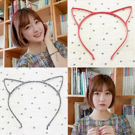Moda linda orejas de gato diadema de orejas de gato NHDP157507's discount tags