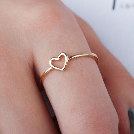 Anillos de cobre electrochapado en forma de corazón para mujer NHDP157510's discount tags
