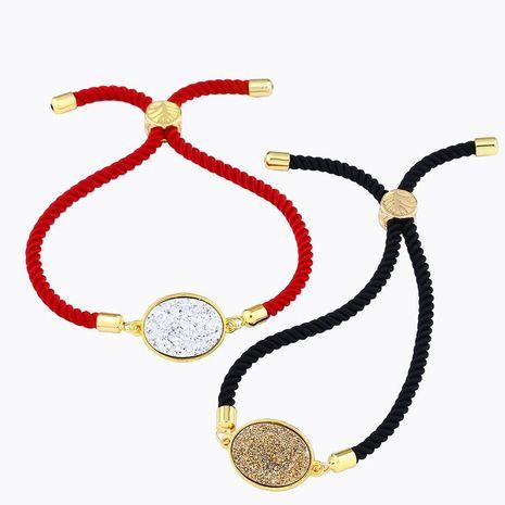 Moda simple pulsera de cristal redondo y caliente NHAS157511's discount tags