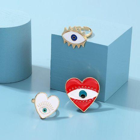 Nueva aleación de moda Drop Oil Anillo del ojo del diablo NHNZ157517's discount tags