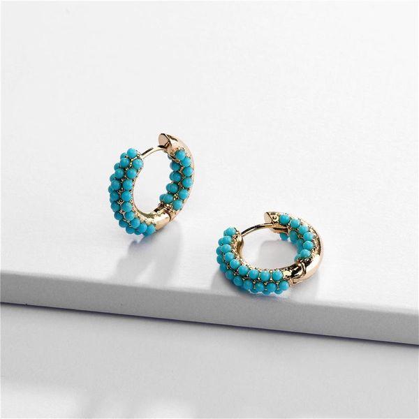 Pearl resin hoop earrings NHLU157519