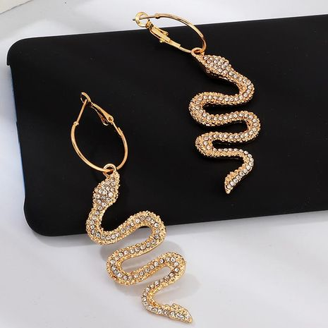 New fashion snake-shaped diamond earrings NHNZ157521's discount tags