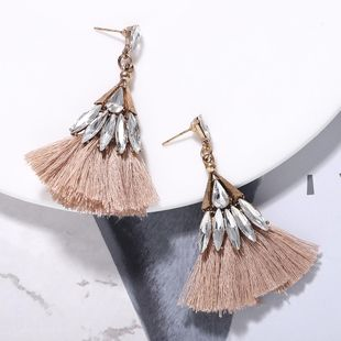 Alloy studded tassel earrings NHJQ157531's discount tags