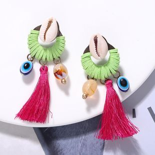 Hand-knitted shell tassel long earrings NHJQ157535's discount tags