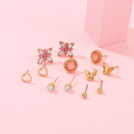 Juego de aretes pequeños con forma de mariposa linda NHNZ157543's discount tags