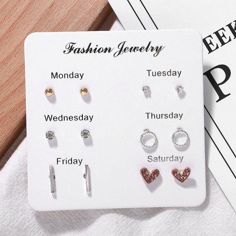 New alloy heart-shaped pearl earrings set NHJQ157545