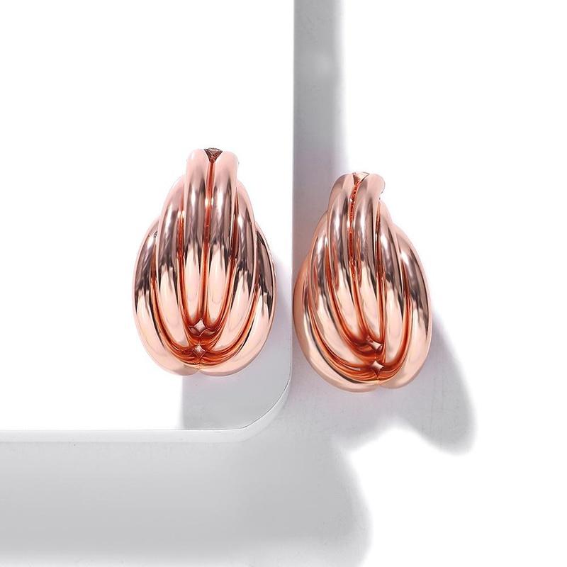 Fashion alloy winding stud earrings NHJQ157542