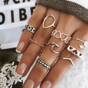 Cute fashion love cat ring silver suit NHNZ157549's discount tags