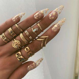 Alloy geometry V-shaped diamond ring set NHNZ157550's discount tags
