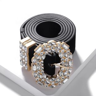 Fashion round head alloy diamond belt NHJQ157565's discount tags