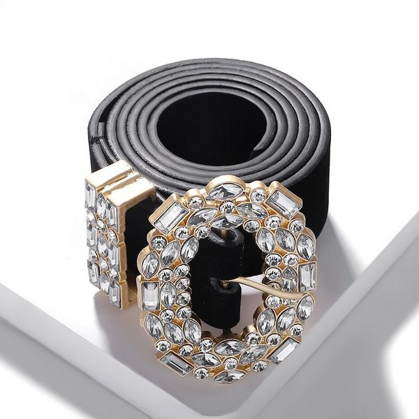 Fashion round head alloy diamond belt NHJQ157565