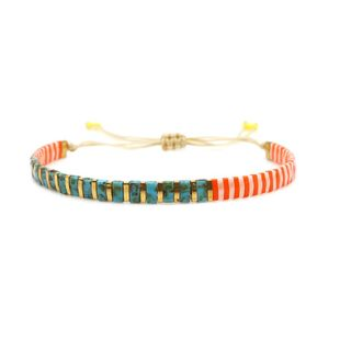 New imported TILA rice bead woven bracelet NHGW157584's discount tags
