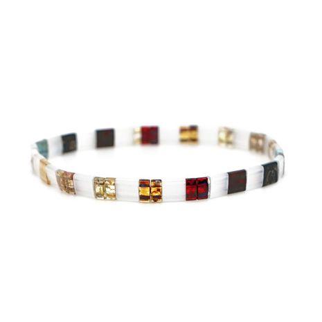 Pulsera trenzada de color con cuentas TILA NHGW157592's discount tags