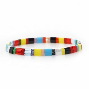 Fashion TILA imported rice beads mixed color bracelet NHGW157602's discount tags