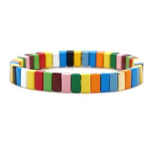 Fashion strip shape alloy paint color retaining bracelet NHGW157604's discount tags
