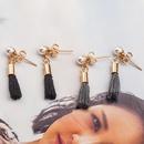 Fashion mini small pearl fringed chain earrings NHDP157486