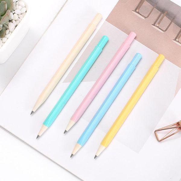 Fashion triangle rod automatic core pencil stationery NHHE157626