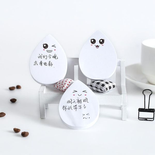 Cute smiley face N times water drop sticky notes NHHE157648
