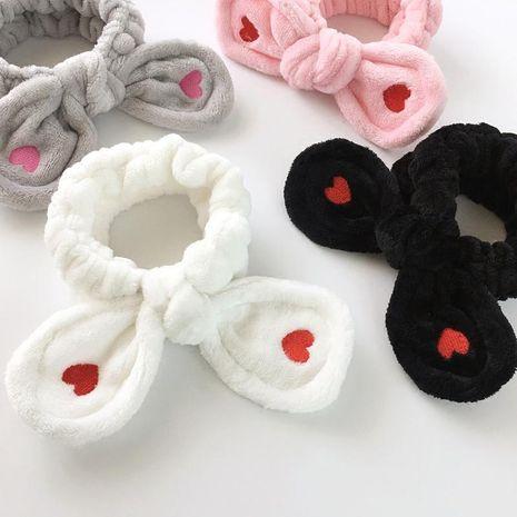 Broderie sauvage simple rouge petit amour oreilles de lapin bande de cheveux NHOF157671's discount tags