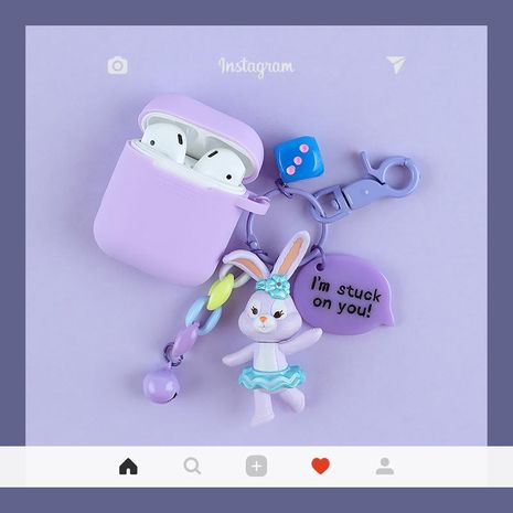 Cute Duffy bear airpods1/2 silicone case NHJP157689's discount tags