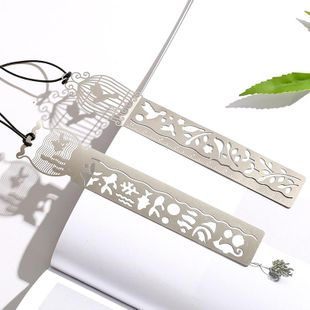 Hollow thin and exquisite metal bookmarks NHHE157739's discount tags