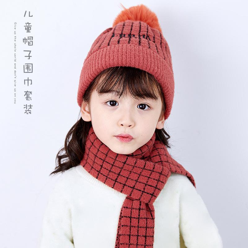 Plaid versatile imitation bristle cap NHXO157742