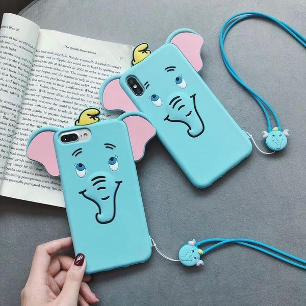 Creative lanyard soft silicone phone case NHDV157755