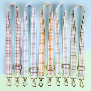 Adjustable small and fresh flannel plaid crossbody purse in autumn and winter NHJP157772's discount tags