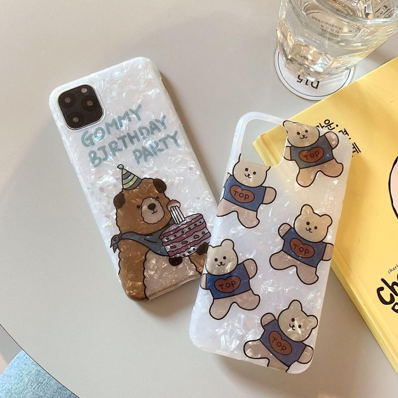 Funda para iPhone 7plus con carcasa de oso lindo de dibujos animados NHDV157774