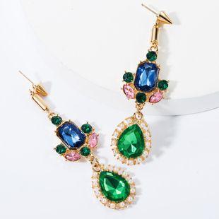 Alloy diamond drop-shaped pearl earrings NHJE157784's discount tags