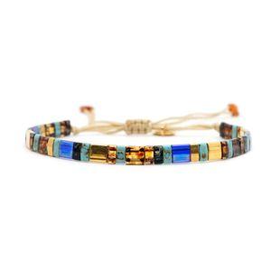 TILA mixed color beaded MIYUKI hand-woven bracelet NHGW157795's discount tags