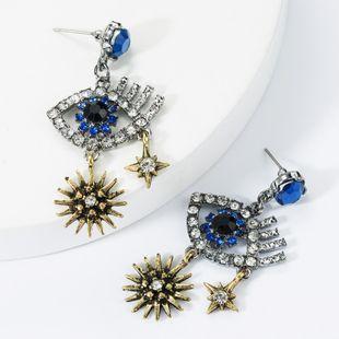 Multilayer Alloy Star Diamond Eye Earrings NHJE157800's discount tags