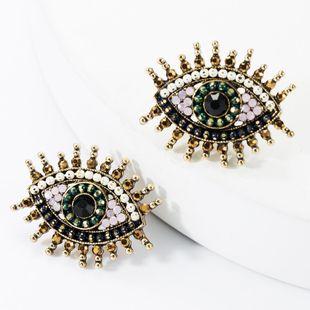 Alloy Diamond Rhinestone Acrylic Eye Stud Earrings NHJE157802's discount tags