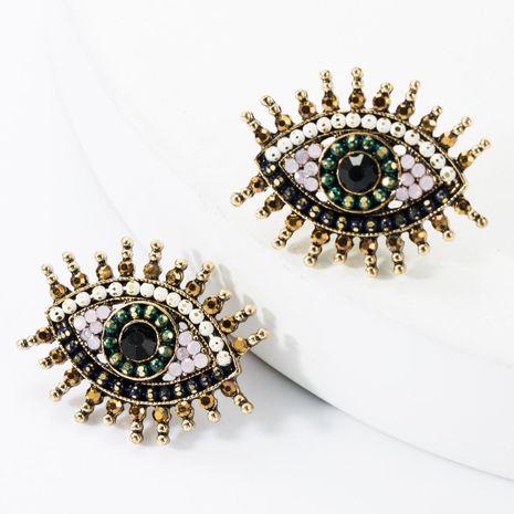 Boucles d'oreilles en alliage acrylique strass diamant oeil NHJE157802's discount tags