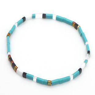 TILA Beaded Color Braided Bracelet NHGW157812's discount tags