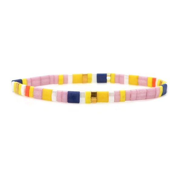 Nueva pulsera tejida con cuentas TILA importadas NHGW157816