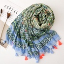 Fashion Print Totem Hair Ball Cotton Scarf NHGD157625